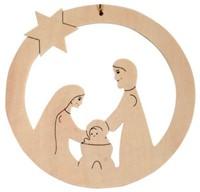 Beleduc  houten knutselspullen kersthanger kindje jezus-1