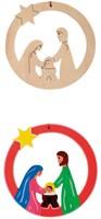 Beleduc  houten knutselspullen kersthanger kindje jezus-3