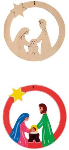Beleduc  houten knutselspullen kersthanger kindje jezus