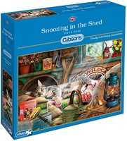 Gibsons puzzel Snoozing in the Shed - Steve Read - 1000 stukjes-2