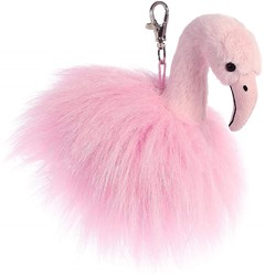 Aurora Luxe Boutique Ava flamingo sleutelhanger 13 cm