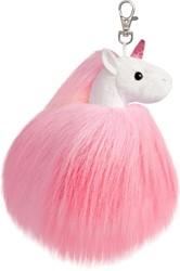 Aurora Sparkle Tales Fluffy eenhoorn sleutelhanger roze 13 cm