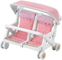Sylvanian Families Dubbele Kinderwagen 4533