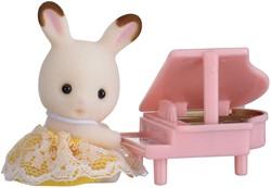 Sylvanian Families Baby Draagdoosje Konijn Met Piano 5202