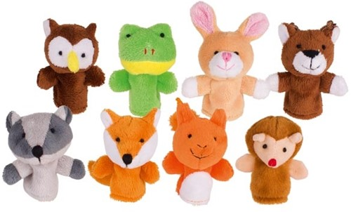 Goki Fingerpuppet set, forest animals