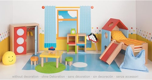 Goki Furniture for flexible puppets, childrens room