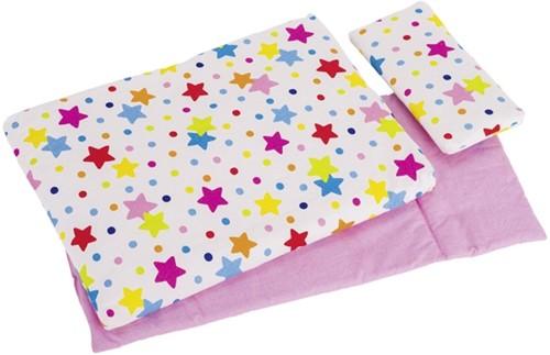 Goki Bedding set for dolls, stars