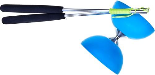 Acrobat - Set 105 Rubber Diabolo Light Blue + aluminum hand sticks