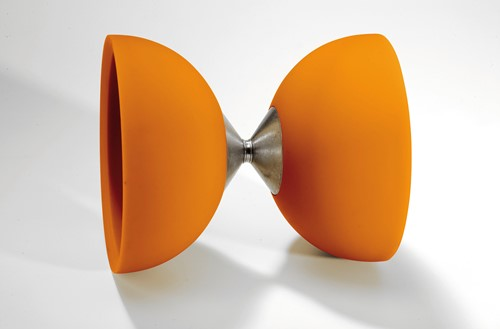 Acrobat 105 Rubber Diabolo Orange