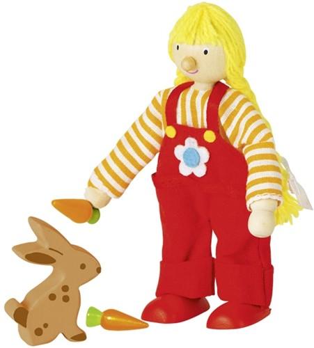 Goki Flexible puppet, farm girl