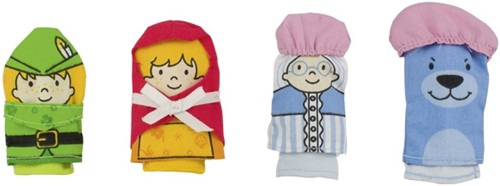 Goki Finger puppets, Red riding hood