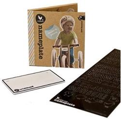 Wishbonebike  loopfiets accessoires Naamplaatje