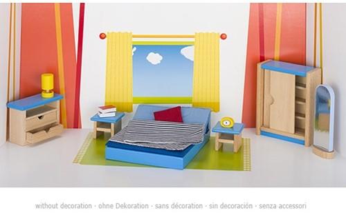 Goki Furniture for flexible puppets, bedroom 1
