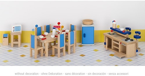 Goki Furniture for flexible puppets, kitchen 1