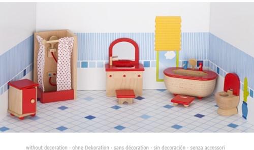 Goki Furniture for flexible puppets, bathroom 3