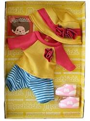 Monchhichi  knuffelpop kleren Boutique A Geel/roze shirt met