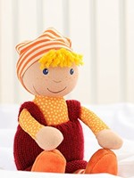 Sigikid  knuffelpop Sigidolly rood-oranje - 28 cm-2