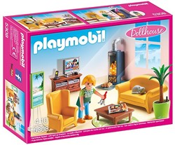 Playmobil  Dollhouse poppenhuis accessoires Woonkamer met houtkachel 5308