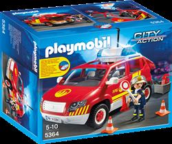 Playmobil  City Action Brandweercommandant met dienstwagen met licht en sirene 5364