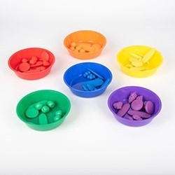 TickiT Sorting Bowls Assorted Colour