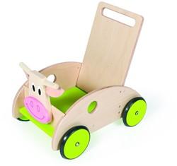 Scratch houten loopwagen WALKHELPKoeMarie
