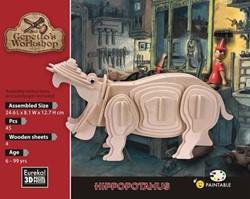 Gepetto's Workshop  houten knutselspullen Hippopotamus