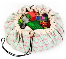 Play & Go - speelgoed opbergzak - Flamingo