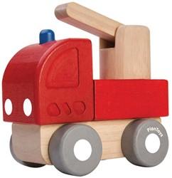 Plan Toys houten speelvoertuig Mini Fire Engine