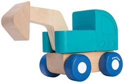 Plan Toys  houten speelvoertuig Mini Excavator