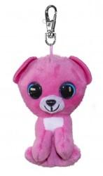 Lumo Stars Knuffeldier Lumo Bear Raspberry met clip - Mini - 8,5cm