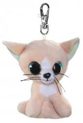 Lumo Stars Knuffeldier Lumo Cat Peach met clip - Mini - 8,5cm