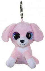 Lumo Stars Knuffeldier Lumo Dog Pinky met clip - Mini - 8,5cm