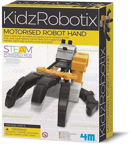 4MKIDZROBOTIX:ROBOT HAND,gedetailleerdeinstructies inbegrepen,werkt op 2x1.5V AAA batterijen (niet inbegrepen), doos24x16,5x6cm,8+