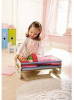 Haba  Lilli and friends houten poppen meubel Poppenbed Paardenbloem 5641-2