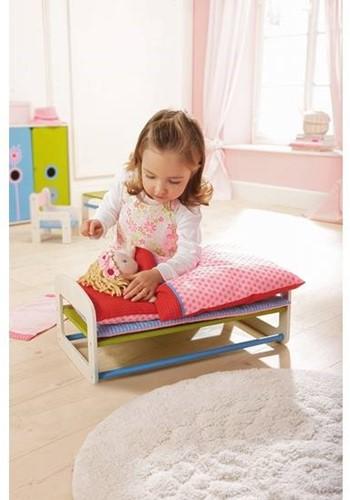 Haba  Lilli and friends houten poppen meubel Poppenbed Paardenbloem 5641-3
