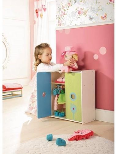 Haba  Lilli and friends houten poppen meubel Poppenkleerkast Paardebloem 5642-3