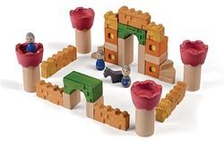 Plan Toys  houten bouwblokken Kasteel blokken