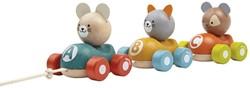 Plan Toys  houten trekfiguur Dierentrein
