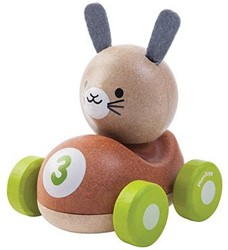 Plan Toys houten speelvoertuig Bunny Racer