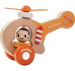 Plan Toys  houten speelvoertuig Helicopter