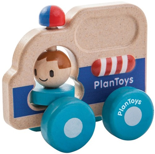 Plan Toys houten Politie auto