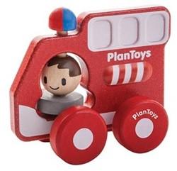 Plan Toys  houten speelvoertuig Brandweer