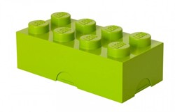 Lego  kinderservies Lunchbox brick 8 lime: groen