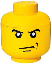 Lego  Opbergbox head boys angry smal