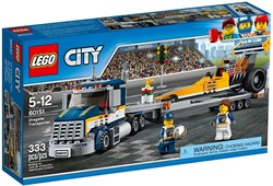 Lego  City set Dragster transportvoertuig 60151