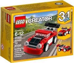 Lego  Creator voertuig Rode racewagen 31055