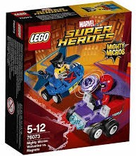 Lego  Super Heroes set Mighty Micros: Wolverine vs. Magneto 76073