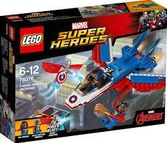 Lego  Super Heroes set Captain America jet achtervolg 76076