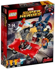 Lego  Super Heroes set Iron Man: Detroit staalstrijd 76077