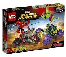 Lego  Super Heroes set Hulk vs Red Hulk 76078